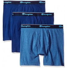 Champion Men's 3-Pack Smart Temp Boxer Brief, Dyed Blues, X LARGE
