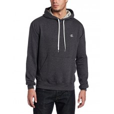 Champion Men's Pullover Eco Fleece Hoodie, Granite Heather, Medium