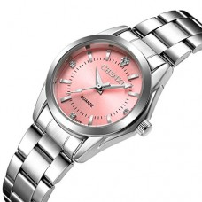 Women Quartz Watches Casual Fashion Waterproof Watches Diamond Rhinestone Luminous Wrist Watch - Pink