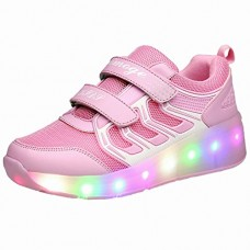 Girls Skate Sneaker Flash on Wheels Roller Shoes