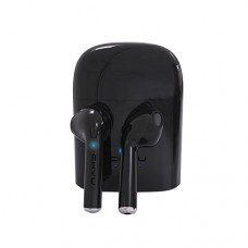 Chyu Earbuds Mini Twins TWS Wireless Headset In-Ear Headphone Earphone Earpiece with Charging Case For IOS, Android, All Bluetooth Devices - Black