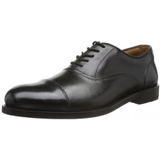 CLARKS Coling Boss Mens Oxford Real Leather Business Shoes Black 26119345, Size:42
