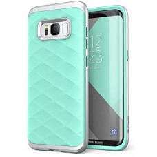 Galaxy S8+ Plus Case, Clayco [Helios Series] Premium Hybrid Protective Case for Samsung Galaxy S8+ (Green/Silver)