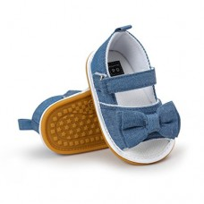 CoKate Baby Toddler Boy Girls Bow Knot Sandals First Walker Shoes (0-6Month, Blue)
