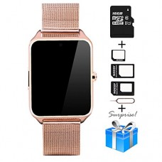 Smartwatch, Collasaro Sweatproof Smart Watch Phone with Camera and SIM Card Slot, Smart Watch for Android Samsung IOS iPhone LG Sony HTC Smartphone...