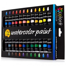 Colore Watercolor Painting Kit, 24 Colors