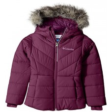 Columbia Big Girls' Katelyn Crest Jacket, Dark Raspberry, Medium