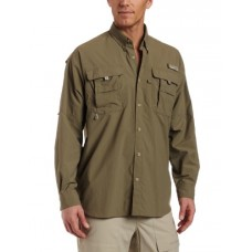 Columbia Men's Bahama II Long Sleeve Shirt, Sage, Large