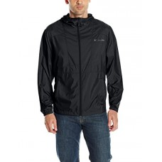 Columbia Men's Flashback Windbreaker, Black, Black, M