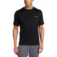 Columbia Men's Tall Meeker Peak Short Sleeve Crew, Black, X-Large/Tall