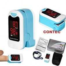 CMS50M Pulse Oximeter with Carrying Case,Neck/Wrist Cord & One-Year Warranty SpO2 and PR value waveform Blood Oxygen Oxymeter
