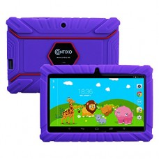 "Contixo Kids Safe 7"" Quad-Core Tablet 8GB, Bluetooth, Wi-Fi, Cameras, 20+ Free Games, HD Edition w/ Kids-Place Parental Control, Kid-Proof Case (Pu..."