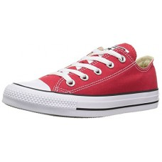 Converse Kid's Chuck Taylor All Star Low Top Shoe, red, 8 M US Toddler