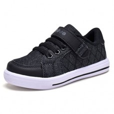 COODO CD3002 Little Boy's Sneakers Kid's Lightweight Casual Sport Shoes Black/White-8
