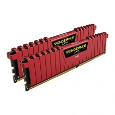 Corsair Vengeance LPX 16GB (2x8GB) DDR4 DRAM 2400MHz C16 Desktop Memory Kit - Red (CMK16GX4M2A2400C16R)