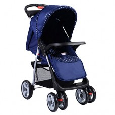 Costzon Blue Foldable Baby Kids Travel Stroller Newborn Infant Buggy Pushchair Child