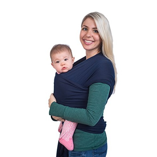 Navy Blue Baby Sling Wrap Carrier By Cozitot Soft Stretchy Baby