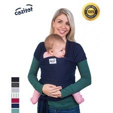 Navy Blue Baby Sling Wrap Carrier by Cozitot | Soft & Stretchy Baby Carrier | All Cloth Baby Wrap | Small to Plus Size Baby Sling | Nursing Cover W...