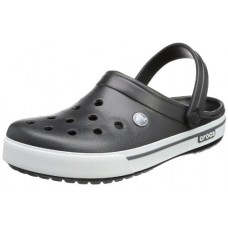 crocs Unisex Crocband II.5 Clog ,Black/Charcoal,9 US Women / 7 US Men