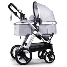 Cynebaby Newborn Baby Stroller for Infant and Toddler City Select Folding Convertible Baby Carriage Luxury High View Anti-shock Infant Pram Strolle...
