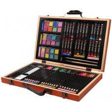 Darice 80-Piece Deluxe Art Set – Art Supplies for Drawing, Painting and More in a Compact, Portable Case - Makes a Great Gift for Beginner and Seri...