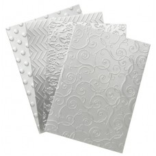 Darice DT-GX-7200-11 12-Pack David Tutera Celebrate Step 2 Card Layer, A7, Embossed Combo/Silver Metallic