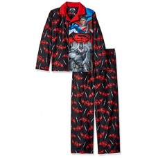 DC Comics Big Boys' Batman Vs Superman Sleepwear Coat Set, Black, Medium