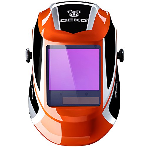 DEKO Auto Darkening Hood with Adjustable 4//9-13 for Mig Tig Arc Welding helmet
