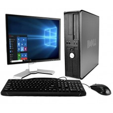 DELL Optiplex Desktop with 20in LCD Monitor (Core 2 Duo 3.0Ghz, 8GB RAM, 1TB HDD, Windows 10 Pro), Black (Certified Refurbished)