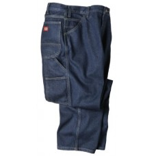 "Dickies Occupational Workwear LU200RNB3632 LU200 Industrial Carpenter Denim Jean, Fabric, 36"" x 32"", Rinsed Indigo Blue"