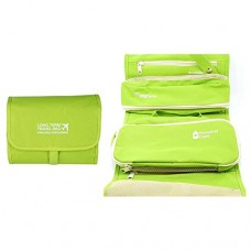 Disconano Travel Cosmetic Bag Organizer Toiletry Kits Beautician Wash Make-Up Bag Necessary Maquillaje Case (Green)