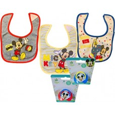 Mickey & Minnie Mouse Baby Bibs & Pacifiers (Mickey Mouse Set)