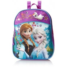 Disney Little Girls' Anna and Elsa Mini Backpack, Pink, One Size