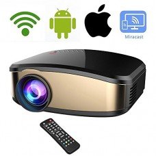 Wireless WiFi Video Projector DIWUER Full HD 1080P 1200 Lumens LED Home Cinema Movie Projector With HDMI/USB/VGA/AV Input for iPhone Android Phone ...