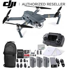 DJI Mavic Pro Collapsible Quadcopter Drone Ultimate Backpack Bundle with Remote Controller, Intelligent Flight Battery, 8330 Folding Propellers, Gi...