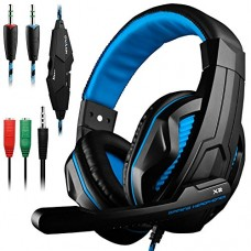 Gaming Headset,DLAND 3.5mm Wired Bass Stereo Noise Isolation Gaming Headphones with Mic for Laptop Computer, Cellphone, PS4 and so on- Volume Contr...