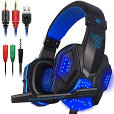 Gaming Headset with Mic and LED Light for Laptop Computer, Cellphone, PS4 and so on, DLAND 3.5mm Wired Noise Isolation Gaming Headphones - Volume C...