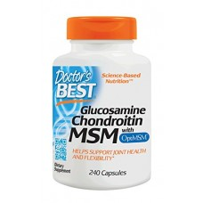 Doctor's Best Glucosamine Chondroitin MSM with OptiMSM, Joint Support, Non-GMO, Gluten Free, Soy Free, 240 Caps