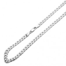 "4.5mm Sterling Silver Chain Necklaces Italian Solid Curb Link Chain ( Available 16""~30""), 28"""