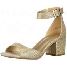 DREAM PAIRS Women's CHUNKLE Pump, Gold Glitter, 6.5 M US