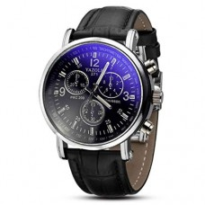 Dressin Men's Analog Quartz Watches,Classic Popular Low-Key Minimalist connotation Leather Watch,Sport and Business With Simple Design Wrist Watch ...