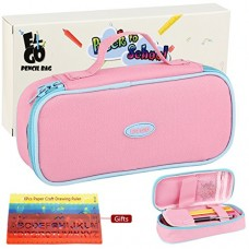 E4go Pencil Case - Large Capacity Pencil Bag With Zipper And High Grade Oxford Fabric 600D, Multifunctional As Toiletry Makeup Bag For Girls, Pink ...