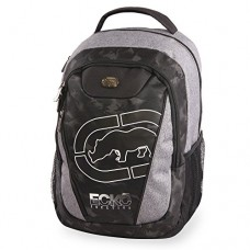 Ecko Unltd. Boys' Block Tablet School Bag fits up to 15 Inch Laptop Backpack, Heather/Black, One Size