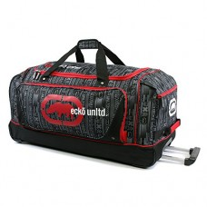 "Ecko Unltd Steam 32"" Large Rolling Duffel Bag,  Red,  One Size"