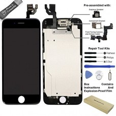 ElecAir 4.7 inch High Definition LCD Screen Display Touch Digitizer Frame Assembly for iPhone 6 and Replacement Repair with Tools & Glass Screen Pr...