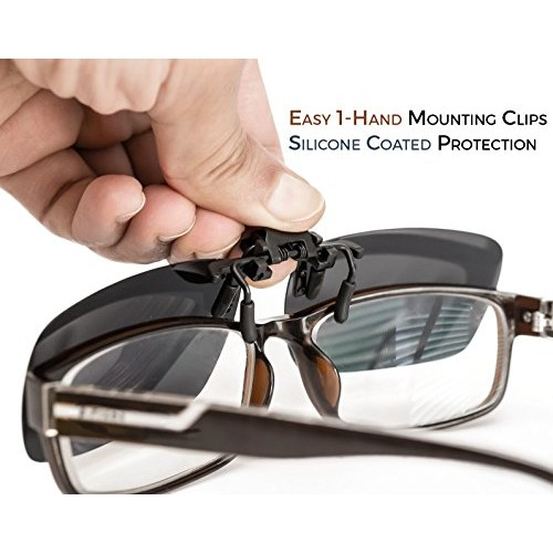 90131b8d01902 ElementsActive Polarized Clip-on Driving Sunglasses with Flip Up Function