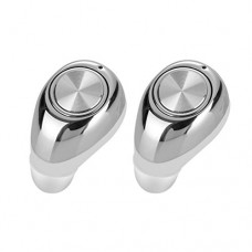 Bluetooth Headset Emubody Wireless Headphone Stereo Headset Earbuds In-Ear (SILVER)