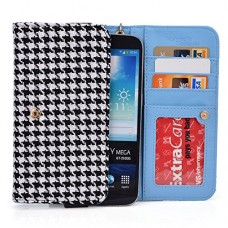 """Black Houndstooth Phone Wallet Case for Samsung Galaxy Note 8 S8+ A7 A9 (2016), A8, Galaxy S7 Plus 6.0"""", S6 edge+ Plus, Note 5 4 3 2 Smartphone Pha..."""