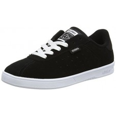 Etnies Women's The Scam W's Skateboarding Shoe, Black/White, 7 M US