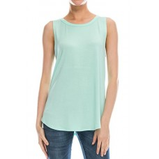 Flowy Relaxed Cool Loose Fit Tank Tops: Workout Rayon Knit Jersey Regular and Plus Size Mnt XL